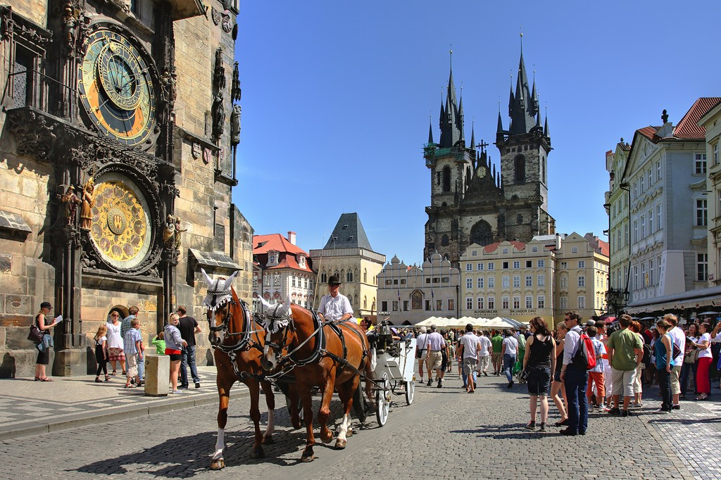 Bigstock prague july tourist car 18390437